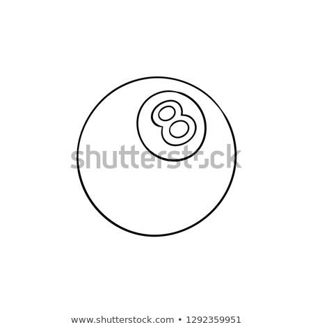 Piscina ocho pelota dibujado a mano garabato Foto stock © RAStudio