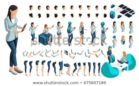 concurrent · werk · positie · ingesteld · vector · karakter - stockfoto © decorwithme