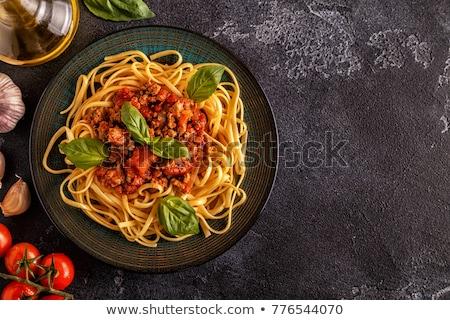 Makarna spagetti et sos geleneksel İtalyan Stok fotoğraf © furmanphoto