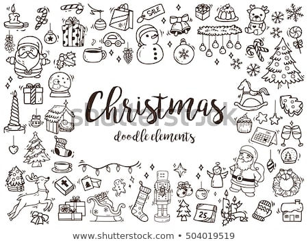 эскиз Рождества носок рисованной стиль прибыль на акцию Сток-фото © netkov1