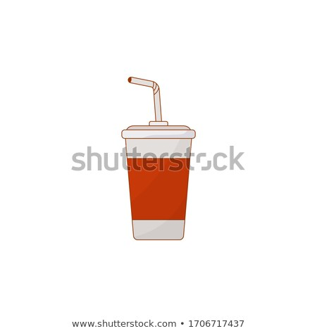 Soft Drink in Colorful Cardboard Cup Vector Card Stock photo © robuart
