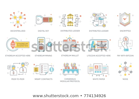 Decentralization Flat Vector Icon Stock photo © smoki