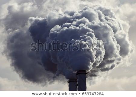 завода · дым · Blue · Sky · небе · технологий · синий - Сток-фото © manfredxy