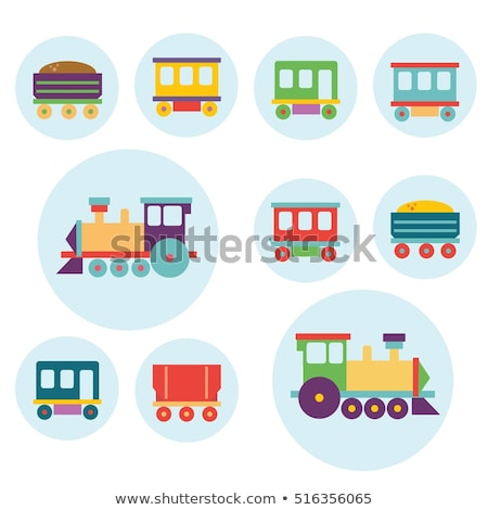 ストックフォト: ワゴン · 子供 · 列車 · アイコン · 色 · デザイン