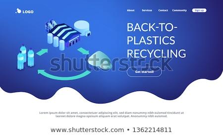 Mechanical recycling isometric 3D landing page. Stock photo © RAStudio