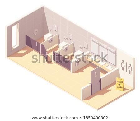 Vetor isométrica público banheiro quartos Foto stock © tele52