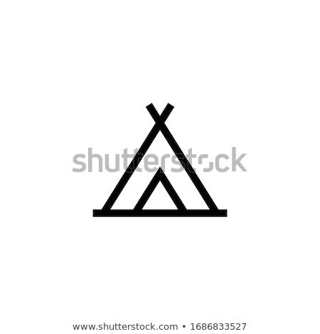 Touristic tent  icon Stock photo © angelp