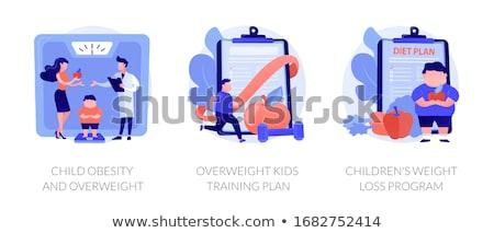 Child overweight concept vector illustration. Foto stock © RAStudio