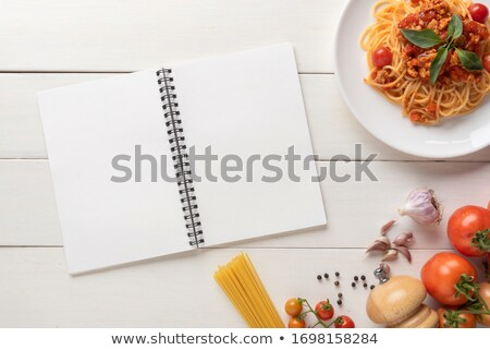 Recipe Book with Lines for Writing Ingredients Stock photo © robuart