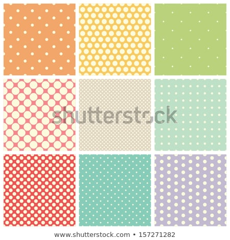 Set of seamless dots pattern in pastel colors Stock photo © lemony