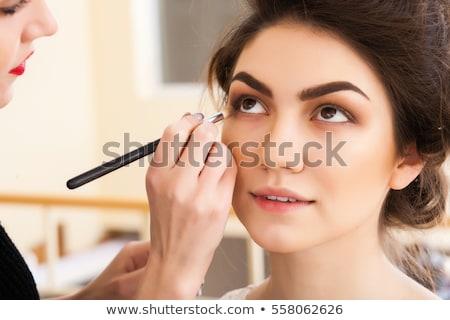 Profi smink művész szépségszalon közelkép lány Stock fotó © dashapetrenko