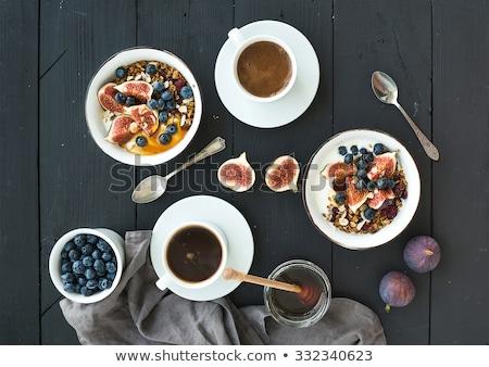 オートミール 新鮮な ブルーベリー 素朴な 木製 食品 ストックフォト © Melnyk