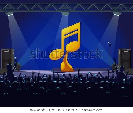 Performans sahne en iyi şarkıcı altın ödül Stok fotoğraf © robuart