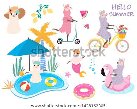 Water Fun Inflatable Transport, Poster Vector Stock photo © robuart