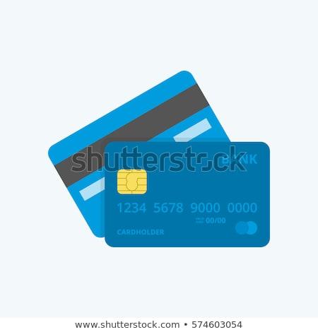 Carte de débit banque plastique paiement carte ligne Photo stock © RAStudio