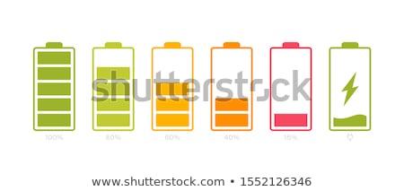 Smartphones diferente bateria sem fio telefone madeira Foto stock © magraphics