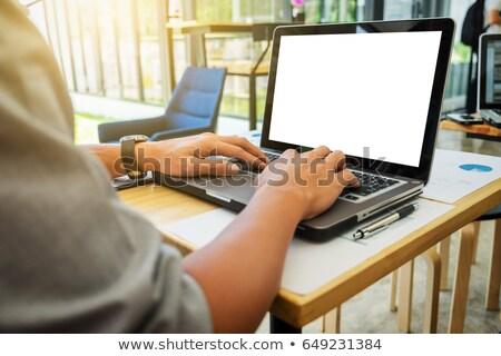 üzlet · cégvezetők · kezek · számítógéphasználat · szett · új - stock fotó © Freedomz