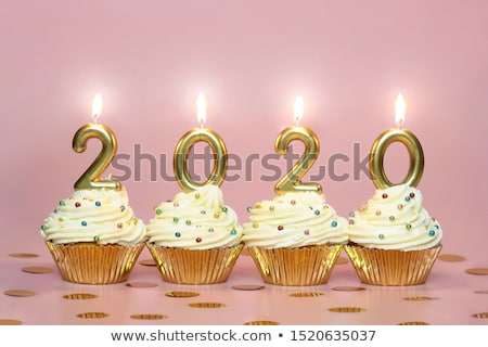 Festive cake with golden candles - Number 20 Stock photo © Zerbor