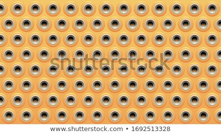 Yellow Beige and Grey Embossed Round Loudspeaker Background Vect Stock photo © cidepix