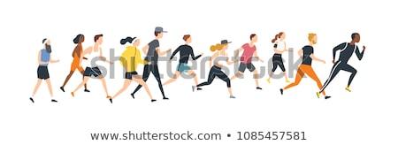 Jogging personne vecteur marathon isolé Photo stock © robuart