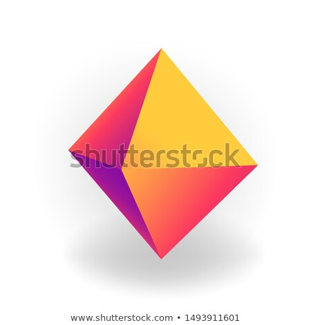 octahedron - 3D geometric shape with holographic gradient isolated on white background vector Stock photo © MarySan