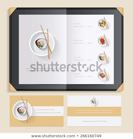 Recipe Menu Mockup with Food Ingredients on Plate Stock photo © robuart