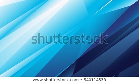 青 抽象的な ベクトル 現代 三角形 モザイク ストックフォト © blumer1979