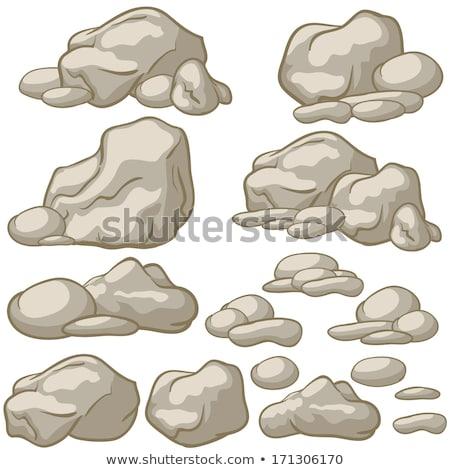 Rock pietra grezzo colore vettore solido Foto d'archivio © pikepicture