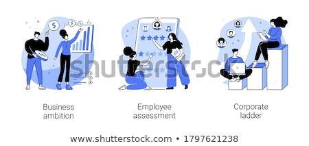 Işçi değerlendirme yazılım müdür görüşme iş Stok fotoğraf © RAStudio