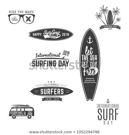 Surfing Summer Fun Activities on Vacation Web Stock photo © robuart