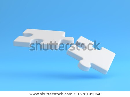 Jigsaw: 3d flying icons stock photo © cidepix