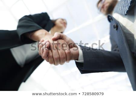 üzlet · együttműködés · megbeszélés · kép · kézfogás · sikeres - stock fotó © Freedomz