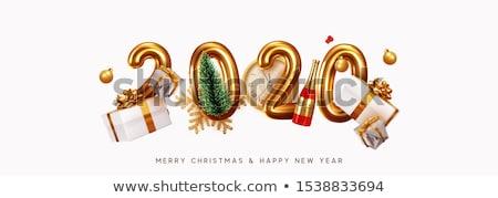 Nouvelle année carte glitter champagne bouteille luxe Photo stock © cienpies