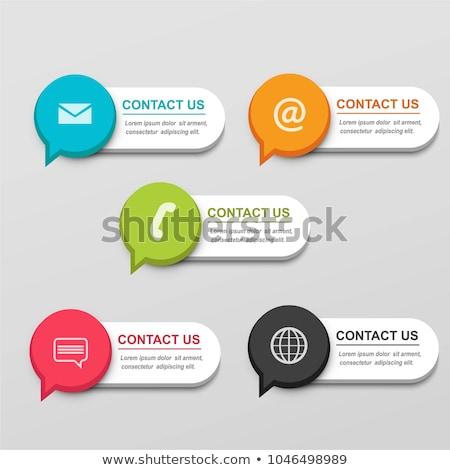 vásárló · visszajelzés · szalag · fejléc · vásárlók · laptop - stock fotó © rastudio