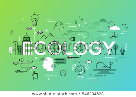 Renewable energy vector concept metaphors. Stock photo © RAStudio