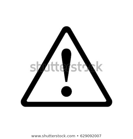 alerta · símbolo · 3d · signo · peligro · protección - foto stock © visualdestination