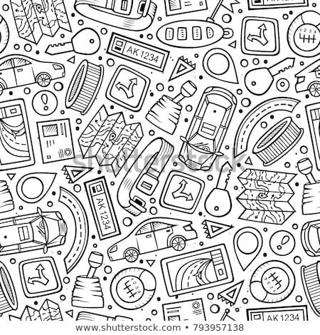 cartoon · cute · dessinés · à · la · main · électriques · véhicule - photo stock © balabolka