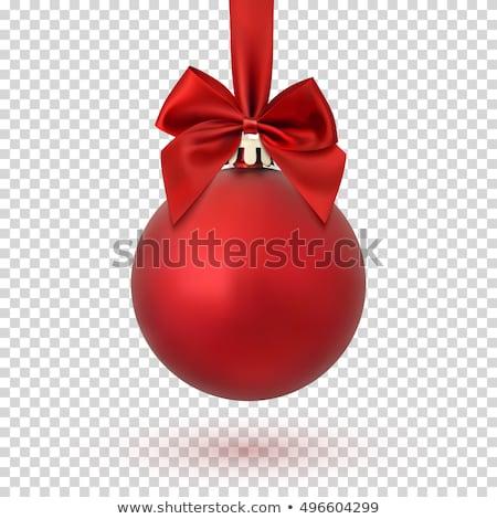 Christmas piłka czerwony wakacje dekoracji Zdjęcia stock © olehsvetiukha