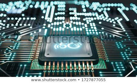 Komputera edytor technologii tekst 3d ilustracji komórkowych Zdjęcia stock © make