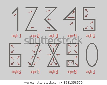 Diamond numerals 0-9 on black Stock photo © Arsgera