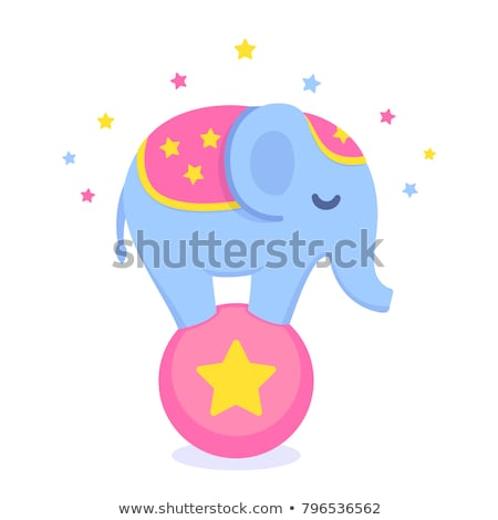 baby elephant on ball stock photo © clivia