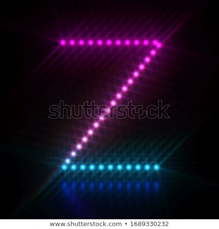 Roze Blauw licht doopvont Stockfoto © djmilic