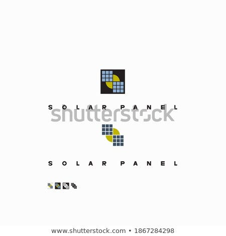 several solar panels icon vector outline illustration Stock photo © pikepicture