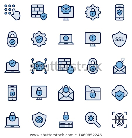 settings hacker icon vector outline illustration Stock photo © pikepicture
