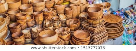 Typique bali célèbre marché bannière longtemps Photo stock © galitskaya