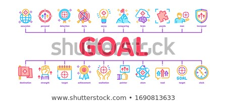 Goal Target Purpose Minimal Infographic Banner Vector Stock photo © pikepicture