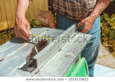 Munkás fa deszka vonalzó üzlet munka otthon Stock fotó © olira