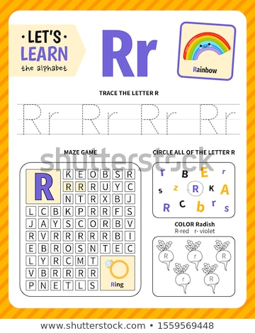 learn to write letter R workbook for children Stock photo © izakowski