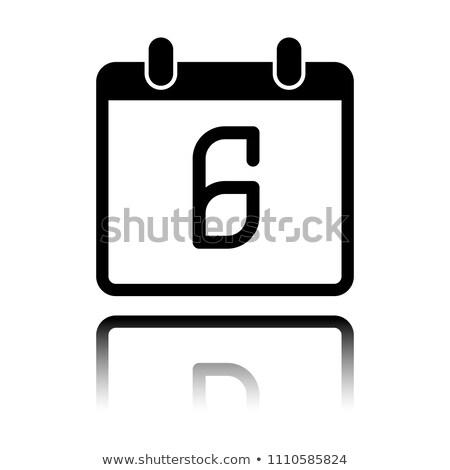 Basit siyah takvim ikon aralık tarih Stok fotoğraf © evgeny89