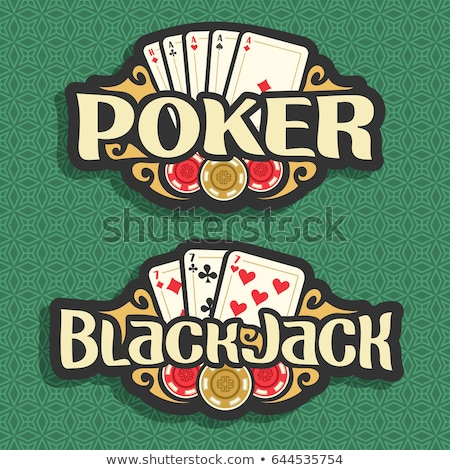 Poker kaarten casino chips groene groep Stockfoto © evgeny89